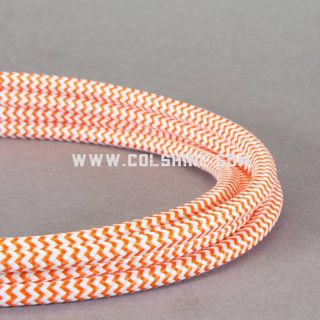 Fabric Covered Braided 2 Core Lighting cable