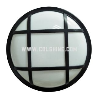 Round plastic led wall light and bulkhead