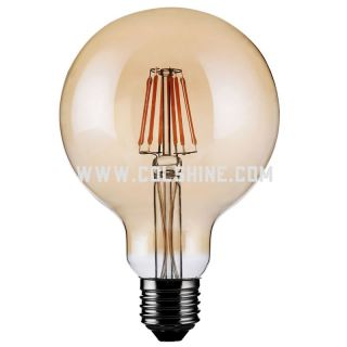Vintage Edison LED Filament Light Bulb G95, 60mm 6w