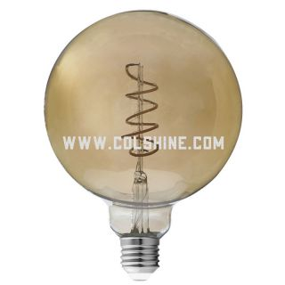 Decorative LED Filament Amber Globe Light Bulb
